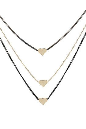 Mini Heart Multi Row Necklace