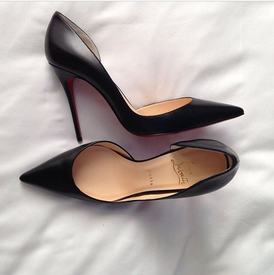 christian louboutin iriza half-d'orsay red sole pump