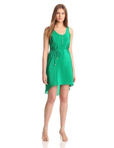 Amanda Uprichard Women's Hi Lo Tank Dress, Green, Large