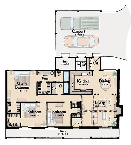 Ranch house plans house plans and garage on pinterest for Basic ranch house plans