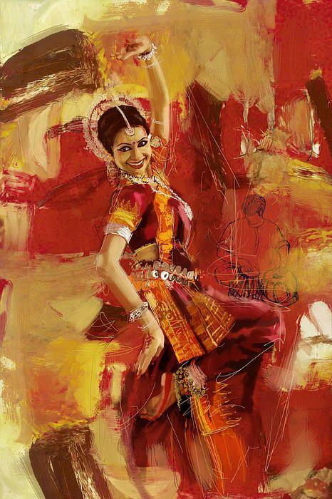 kathak dancer painting so beautiful really nice art