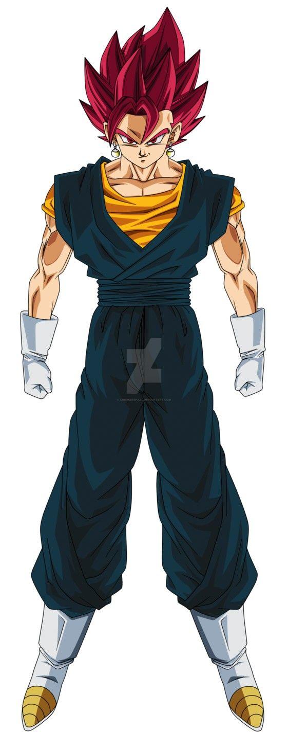 Vegetto Super Saiyajin Fase Dios Dragon Ball Super Manga Anime Dragon Ball Super Dragon Ball Artwork
