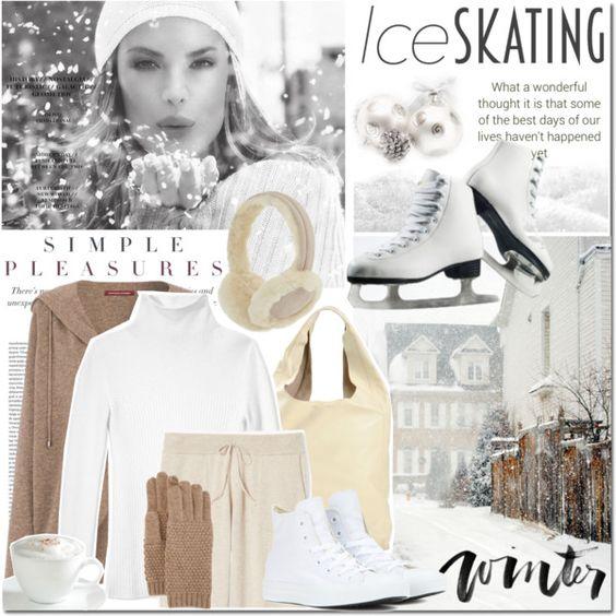 Ice Skating by elena-777s on Polyvore featuring mode, Les Copains, Comptoir Des Cotonniers, Theory, Converse, CÉLINE, UGG Australia, Portolano, Sur La Table and Oris