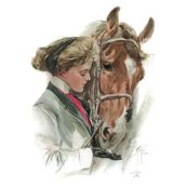 """The Equestrian & The Horse 18"""" pillow square"""