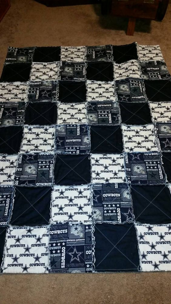 Rag Quilt Cowboys And Etsy On Pinterest