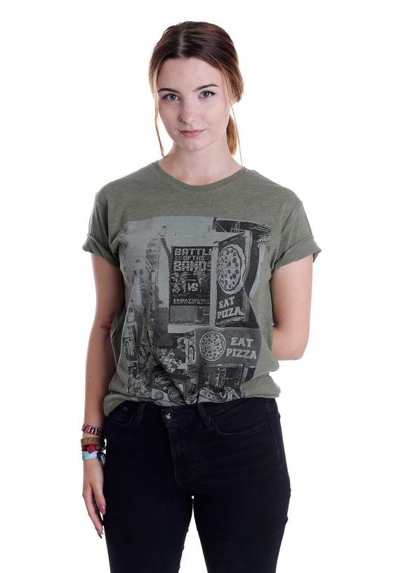 Turtles - Eat Pizza Olive - T-Shirt - Girls - Fan merch, superheroes, starwars…