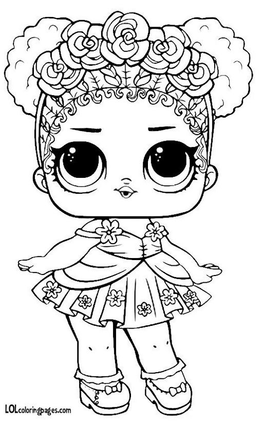 Coloring Pages Com 3jlp Flower Child Series 3 L O L Surprise Doll