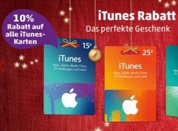 iTunes: 10 Prozent Rabatt bei Rewe und Penny https://www.discountfan.de/artikel/tablets_und_handys/itunes-10-prozent-rabatt-bei-rewe-und-penny.php Vier Tage lang sind bei Rewe und Penny iTunes-Karten mit zehn Prozent Rabatt zu haben – der Preisabschlag gilt für alle Guthaben-Karten. iTunes: 10 Prozent Rabatt bei Rewe und Penny (Bild: Penny.de) Der iTunes-Rabatt von zehn Prozent bei Penny und Rewe gilt vom 21. bis 24. Dezember 2015. ... #Guthabenkarte, #Penny