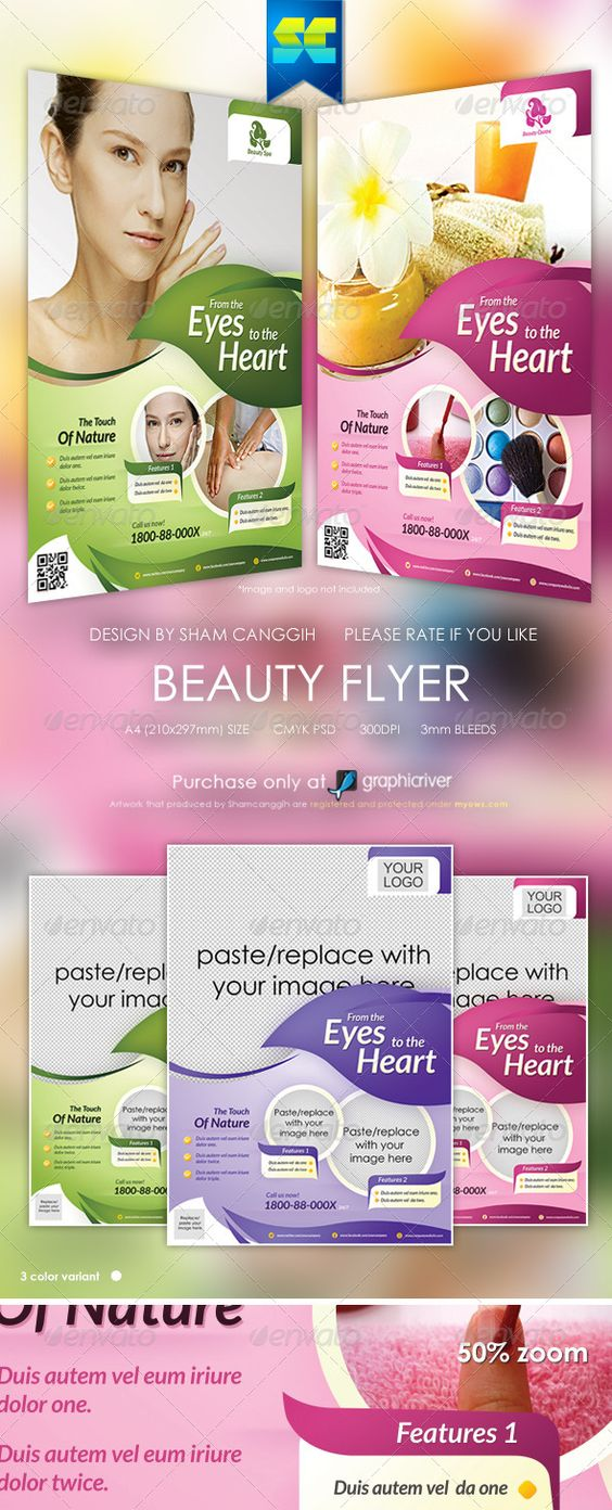 Modern Beauty Flyer Magazine Ads Beauty Marketing And Poster