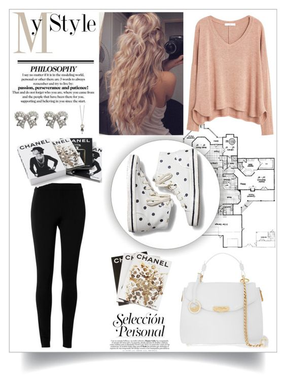 """""""My Style"""" by dancergirl2015 ❤ liked on Polyvore featuring MANGO, Keds, Versace, Max Studio, M&Co, Assouline Publishing, Chanel, MyStyle and outfitsbyemma"""