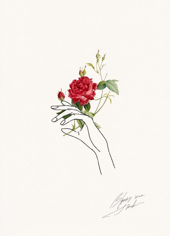 line art flowers husqvarna