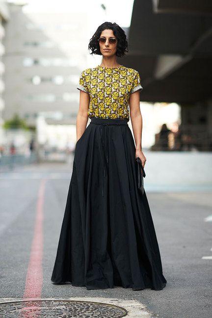 Street Chic: Paris Long Skirts