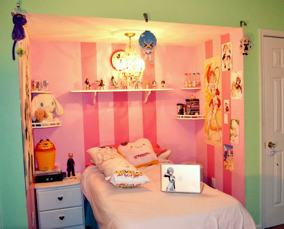 otaku wallpaper bedroom google search beds and rooms pinterest