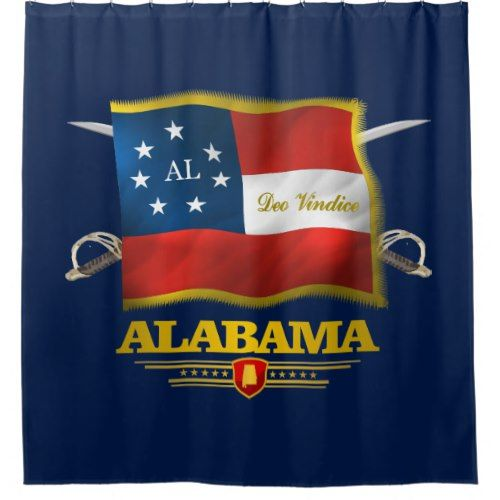 Alabama Deo Vindice Shower Curtain Zazzle Com Missouri Custom
