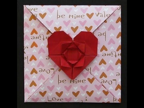 origami valentines day card designed and folded by marcela brina more details in httpwwwartisbelluscom201102valentines day card new ori