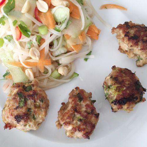 Asian Meatballs + Rice Noodle Salad photo | Heidi