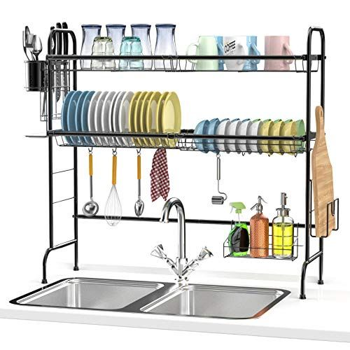 Dish Drying Rack Large Ace Teah Over The Sink Dish Rack Https Www Amazon Com Dp B07vrbbmys Ref Cm Sw R Pi Dp Sink Dish Rack Dish Rack Drying Sink Sizes