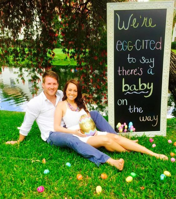 Easter Themed Baby Announcement | Little Harley's ...