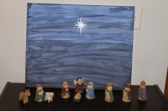 Lyndi's Projects: Painted Canvas Nativity Backdrop