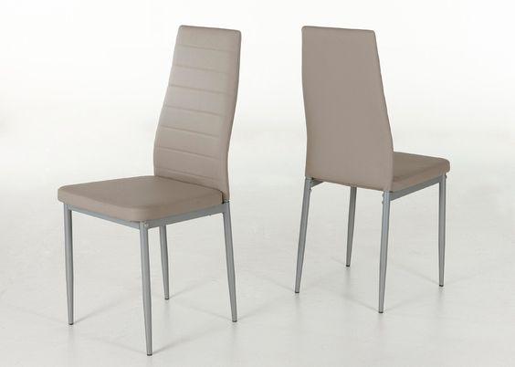 Küchenstuhl Simone Vierfußstuhl 4er-Set Stuhlgruppe Cappuccino 1381. Buy now at https://www.moebel-wohnbar.de/kuechenstuhl-simone-vierfussstuhl-4er-set-stuhlgruppe-cappuccino-1381