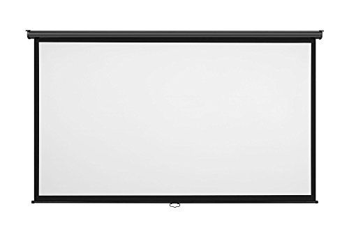Vonhaus 100 Inch Widescreen Projector Screen Manual Pull Down Home Theatercinema Or Presentation Platform 169 A Projector Screen Projection Screen Home Theater