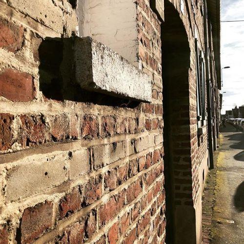 briques du nord maison mur brique briques rouge rue