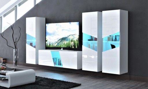 Mebloscianka Zestaw Mebli Salon Polysk Corona I 1360 Zl Allegro Pl Raty 0 Darmowa Dostawa Ze Smart Kepno Stan Nowy Id O Home Decor Tv Unit Room