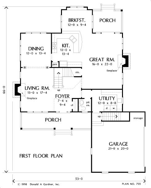 Home Plan The Regency By Donald A Gardner Architects