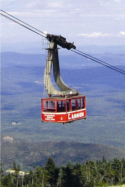 Cannon Mountain Aerial Tramway by White Mountains NH - 7/12/14 w/the kids