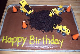 Following His Lead Today: Construction Cake