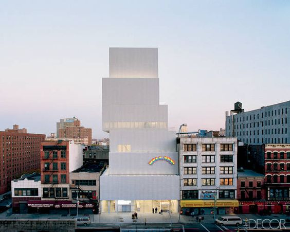 ELLE DECOR GOES TO MANHATTAN    The New Museum on the Bowery, designed by Japanese firm SANAA.