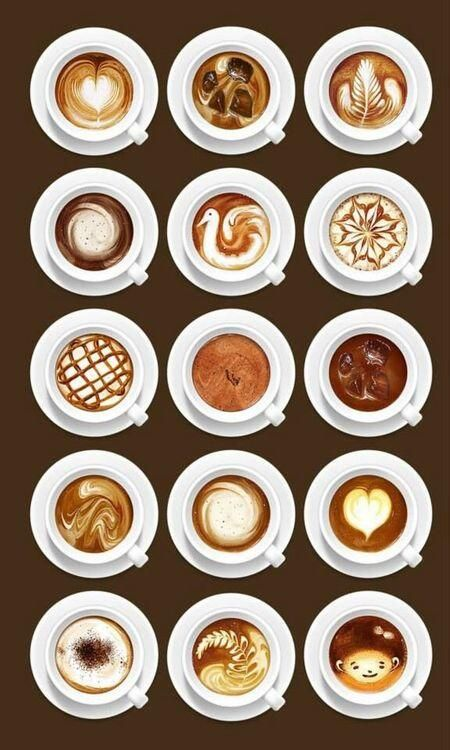 Coffee art - Making shapes with the cream adds that extra touch.