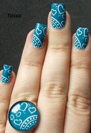 Tassa's blog: Essence Bonnie + White konad + ring
