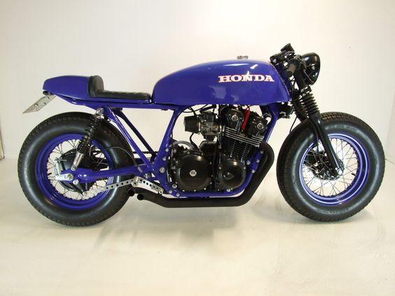 "1982 Honda CB750F Cafe Racer ""Big Blue"" - found on bubble visor"