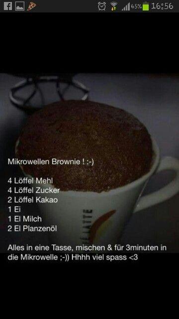 Mikrowellen Brownie! #lecker #rezept