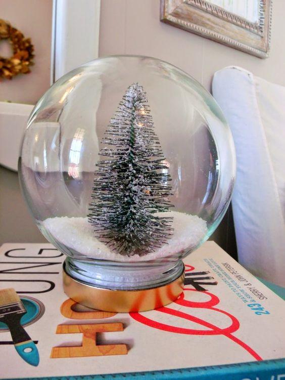 Weihnachtsdeko aus einem runden Einweckglas