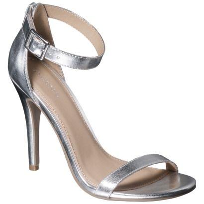 Women's Xhilaration® Susy Strappy Heel - Silver | Style Ideas ...