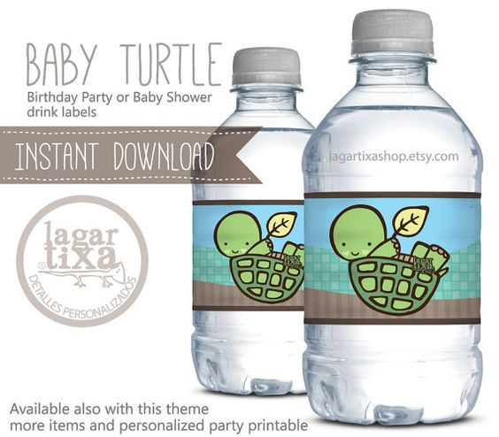 Baby Turtles, Little Babies And Drink Labels On Pinterest