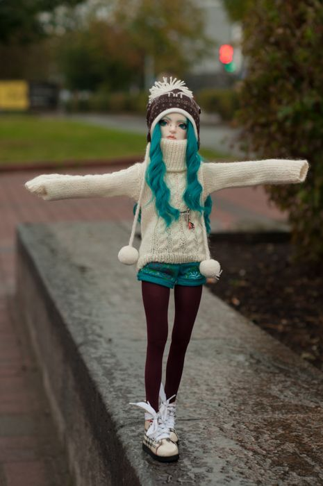 """""""Ball Jointed Doll - Pic by Necofenix via Flickr #doll #bjd"""" Comfy sweaters are are a must"""