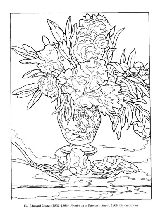 Manet: Peonies in a Vase on a Stand: Dover Publications