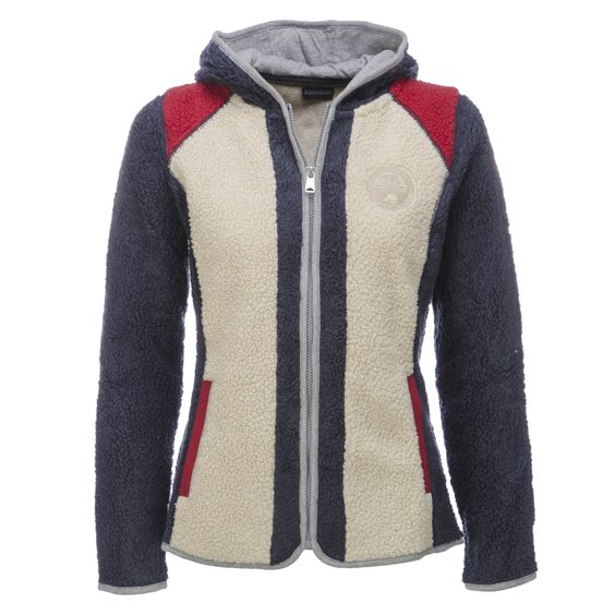 Napapijri Yupik Fleece Ski-Vest Women Multicolour blue-red