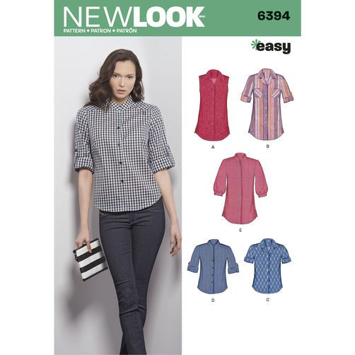New Look 6394 Misses' Button Front Tops