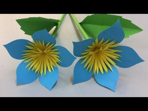 How To Make Beautiful Paper Flowers Simple Paper Flowers Making