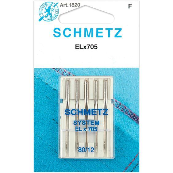 ELX705 Serger Needles Size 12/80 5/Pkg