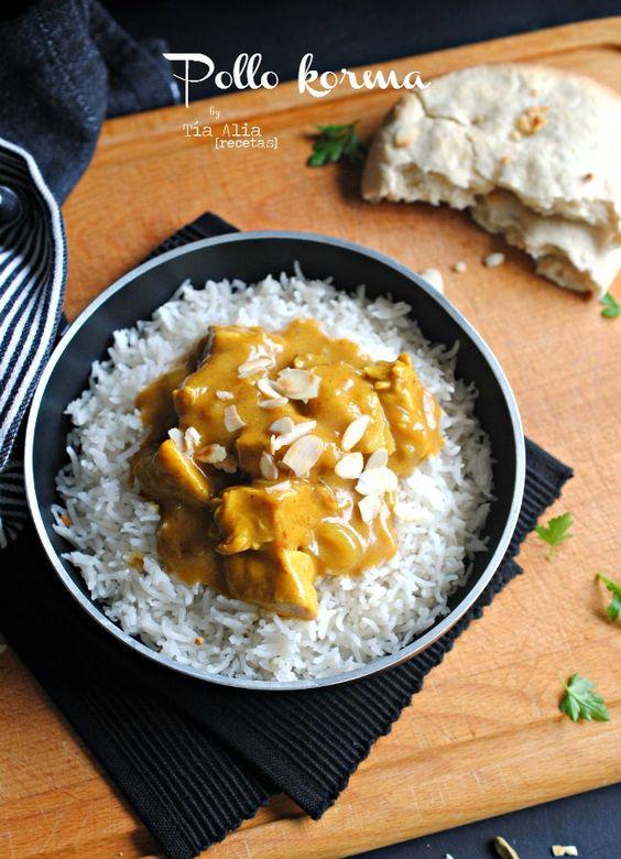 Tía Alia Recetas: Pollo korma [cocina india o hindú]