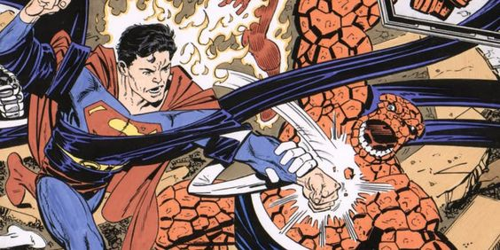 Superman Punches A Member Of Fantastic Four
