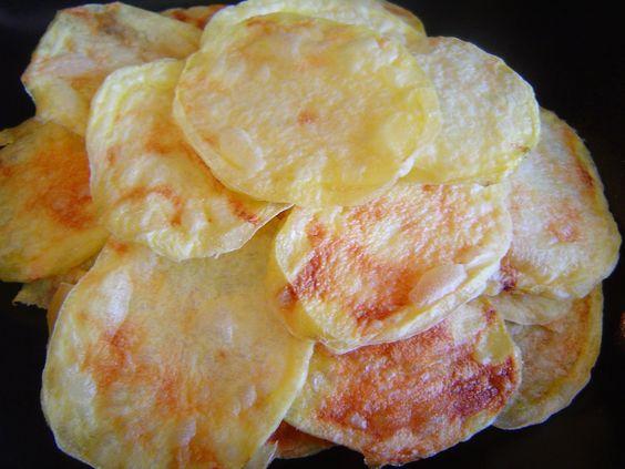 Patatas chips al microondas receta f cil recetas - Pescado al microondas facil ...