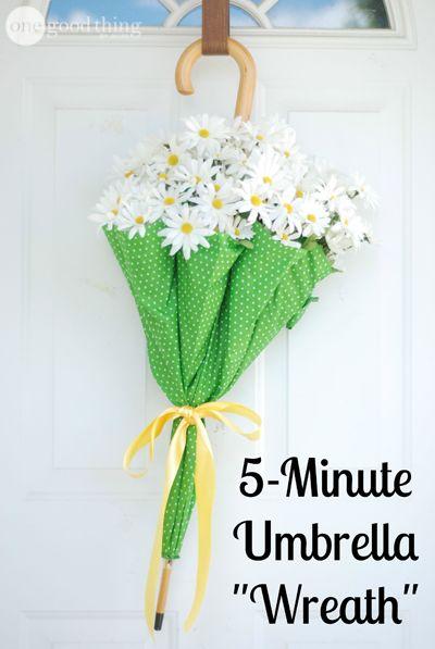 """5-Minute Umbrella """"Wreath"""""""