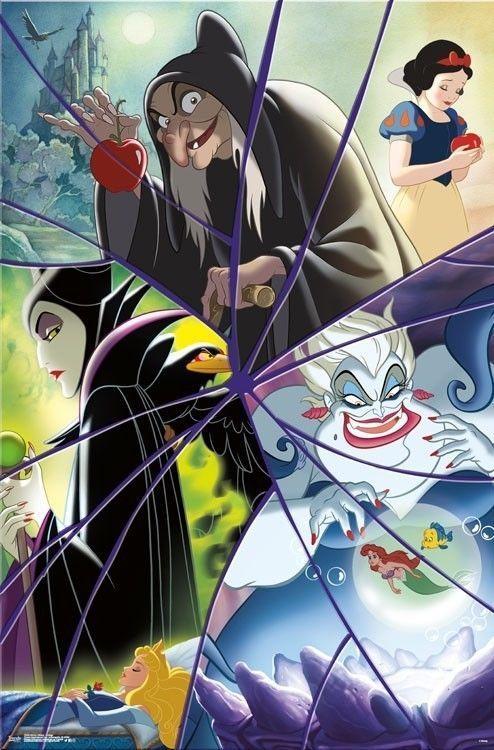 8 95 Disney Villains Collage Poster 22x34 Movies 15486