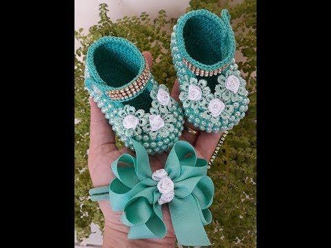 Youtube Sapatinho De Croche Sandalias De Croche Para Bebe Sapatos